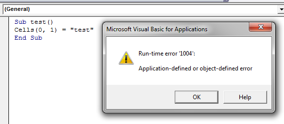 runtime error 1004